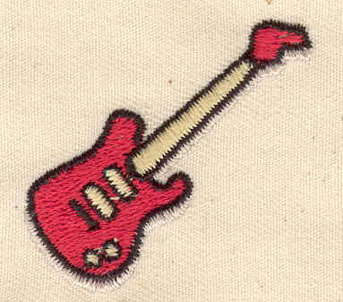 Embroidery Design: Electric Guitar 1.56w X 1.50h