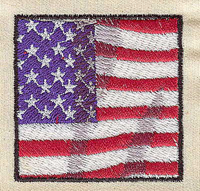 Embroidery Design: American Flag 2.00w X 2.00h
