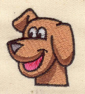 Embroidery Design: Dog 1.38w X 1.50h