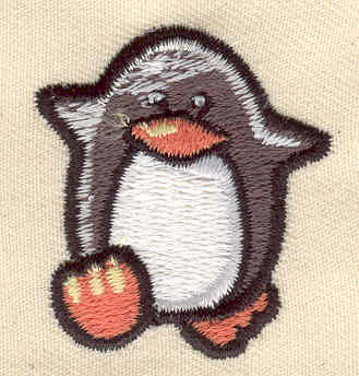 Embroidery Design: Penguin 1.38w X 1.50h