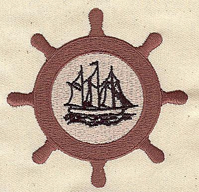 Embroidery Design: Ship's Wheel 3.00w X 3.00h