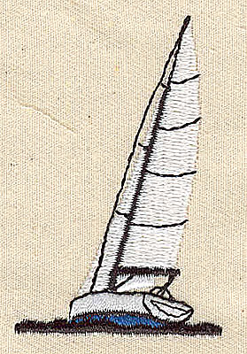 Embroidery Design: Sailboat 1.44w X 2.31h