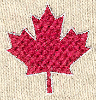 Embroidery Design: Maple leaf 2.13w X 2.19h
