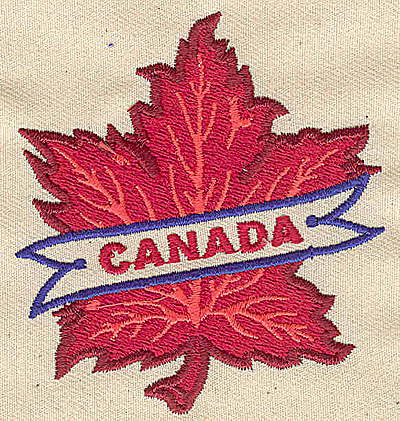 Embroidery Design: Canada maple leaf 2.69w X 2.88h