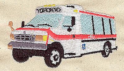 Embroidery Design: Ambulatory transportation 2.94w X 1.75h