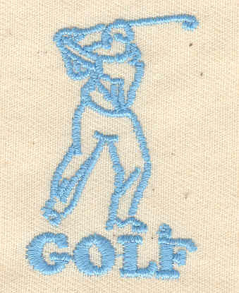 Embroidery Design: Golf 1.19w X 1.88h