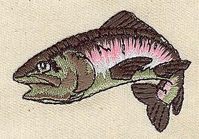 Embroidery Design: Fish 2.38w X 1.63h