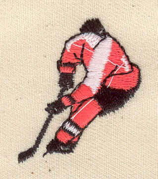 Embroidery Design: Hockey player 1.19w X 1.44h