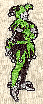 Embroidery Design: Court Jester 1.13w X 3.44h