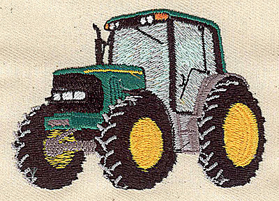 Embroidery Design: Tractor 3.13w X 2.25h