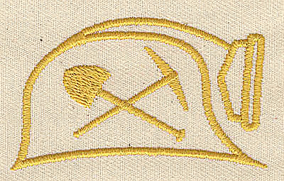 Embroidery Design: Miner's helmet 2.31w X 1.38h