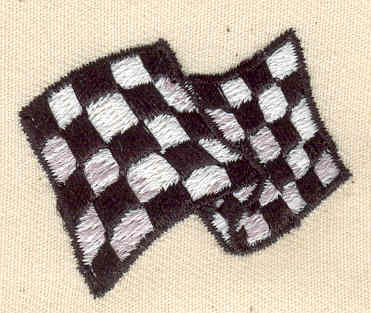 Embroidery Design: Racing Flag 1.63w X 1.38h