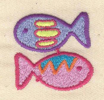 Embroidery Design: Fish symbols 1.31w X 1.31h