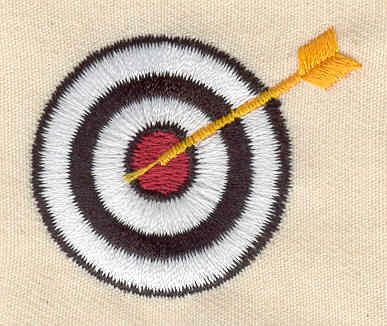 Embroidery Design: Archery target 2.63w X 1.38h