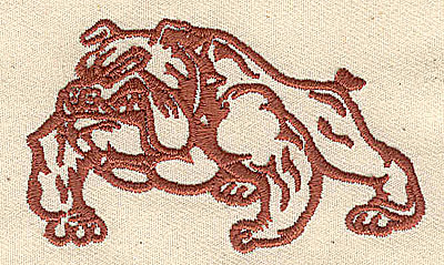 Embroidery Design: Bulldog 3.00w X 1.75h