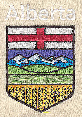 Embroidery Design: Alberta code of arms 2.13w X 3.25h