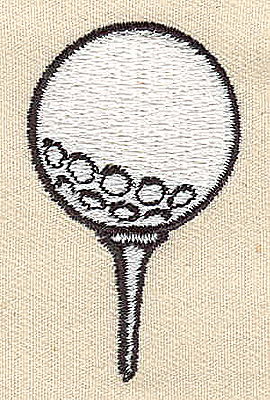 Embroidery Design: Golf ball on tee 1.19w X 1.94h