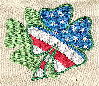 Embroidery Design: American shamrock 2.38w X 2.00h