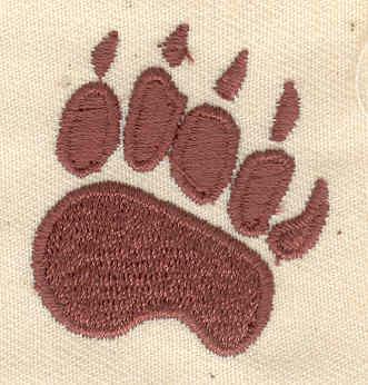 Embroidery Design: Bear Paw 1.31w X 1.44h