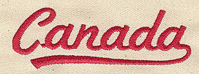 Embroidery Design: Canada 3.31w X 1.13h