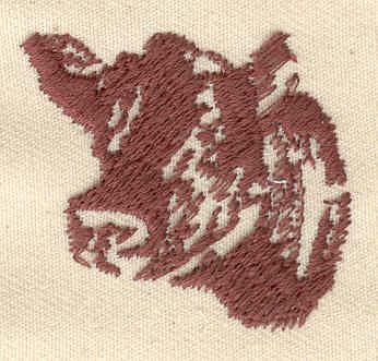 Embroidery Design: Cow head1.44w X 1.38h