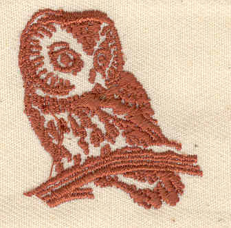 Embroidery Design: Owl 1.31w X 1.44h