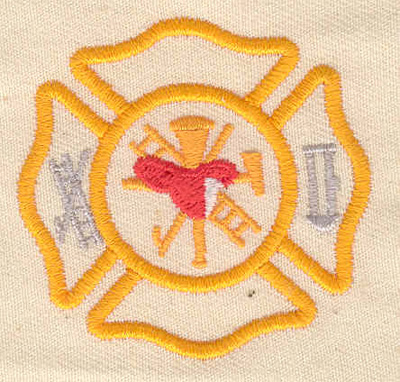 Embroidery Design: Fire Department logo 1.94w X 1.88h