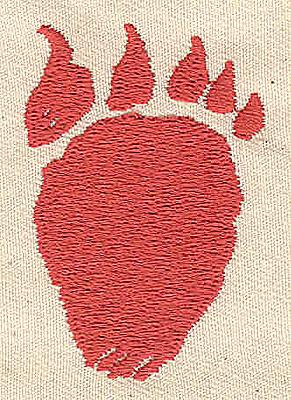 Embroidery Design: Bear Paw 1.38w X 2.00h