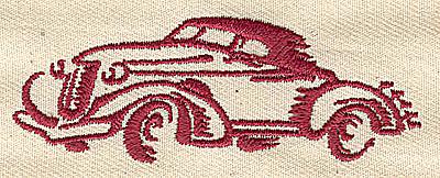 Embroidery Design: Vintage automobile 2.94w X 1.06h