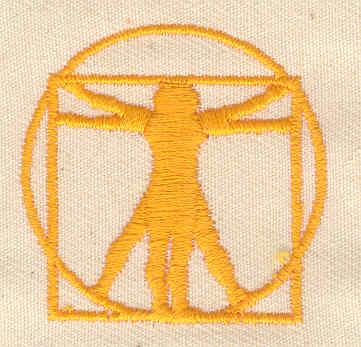Embroidery Design: Da Vinci's art of man 1.50w X 1.50h