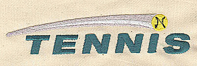 Embroidery Design: Tennis 4.31w X 0.88h