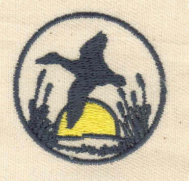 Embroidery Design: Duck with scenery 1.50w X 1.44h