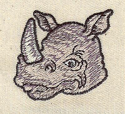Embroidery Design: Rhinoceros 1.56w X 1.44h