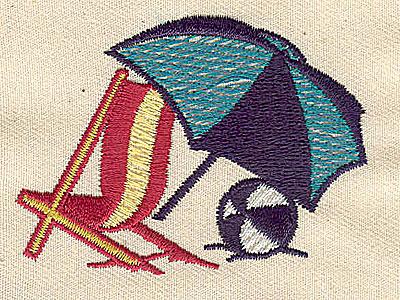 Embroidery Design: Beach scene 2.56w X 1.88h