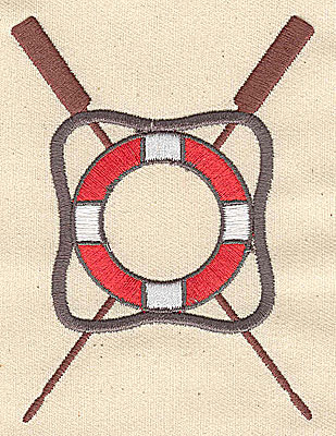 Embroidery Design: Life preserver symbol 2.94w X 3.94h