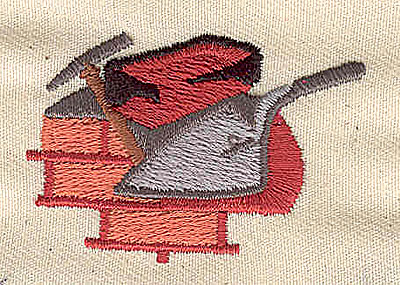Embroidery Design: Brick layers tools 1.88w X 1.25h