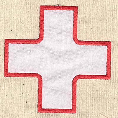 Embroidery Design: Applique cross 3.94w X 3.94h