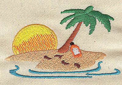 Embroidery Design: Desert island2.75w X 1.75h