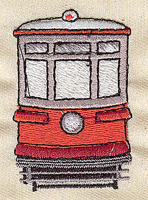 Embroidery Design: Streetcar 1.88w X 2.25h
