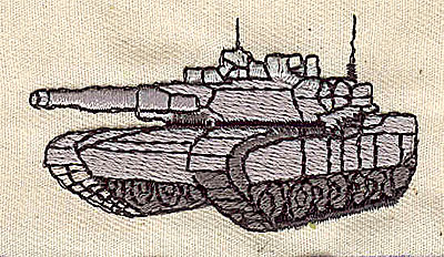 Embroidery Design: Military tank 2.38w X 1.31h