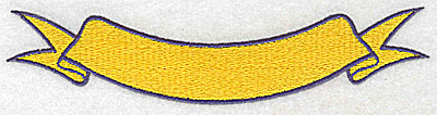 Embroidery Design: Banner 6.38w X 1.44h