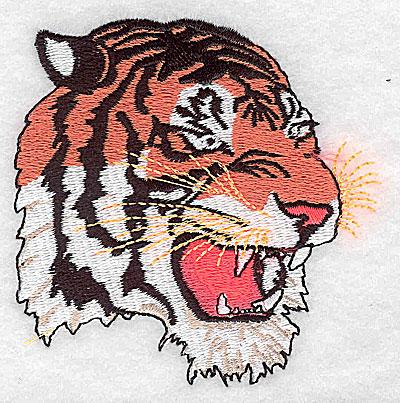 Embroidery Design: Tiger 3.19w X 3.19h