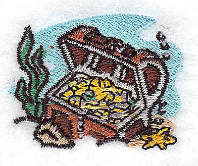 Embroidery Design: Treasure chest 2.00w X 1.25h