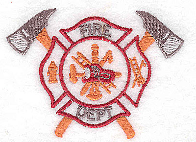Embroidery Design: Fire Department logo 2.94w X 2.13h