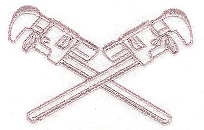 Embroidery Design: Wrenches 3.13w X 2.00h