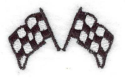 Embroidery Design: Crossed racing flags 1.69w X 1.00h