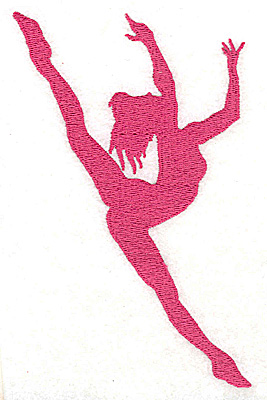 Embroidery Design: Dancer 3.25w X 5.06h