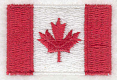 Embroidery Design: Canadian Flag 1.50w X 1.00h