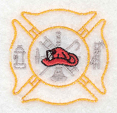 Embroidery Design: Fire Department logo 2.00w X 1.94h