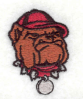 Embroidery Design: Bulldog logo 1.19w X 1.63h